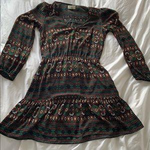 Dolce Vita Long Sleeved Printed Dress